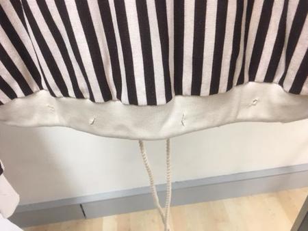 Jen's Pirate Booty SAMPLE Weekender Hoodie SWEATER - Brown/White Stripe