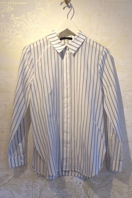 Jenni Kayne Silk Cotton Stripe Boyfriend Shirt