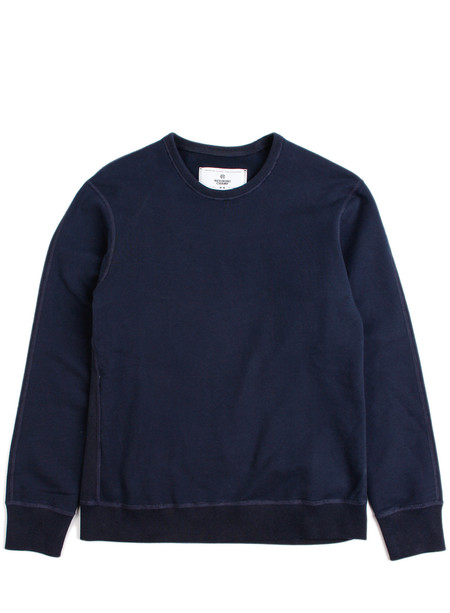 Reigning Champ Knit Mid Wt Terry Long Sleeve Crew Navy