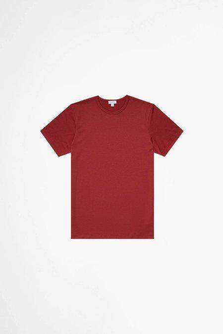 Sunspel Classic Cotton T-shirt - Brick Red