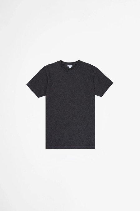 Sunspel Organic Cotton Riviera T-shirt - Charcoal Melange