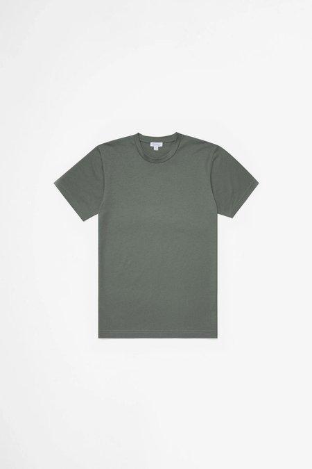 Organic Cotton Riviera T-shirt - Smoke Green Melange