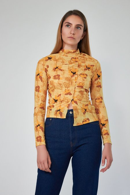 Rejina Pyo Alix Top - Flower Amber