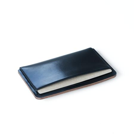 UNISEX Makr Loop Landscape Cardholder case - Navy Horween® Shell Cordovan