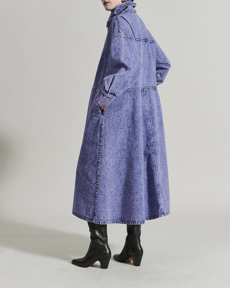 Rachel Comey Felton Dress - Lavender Acid Wash Denim