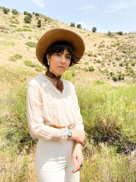 Vintage & Pre-loved GHOST RANCH EDWARDIAN BLOUSE - CREAM