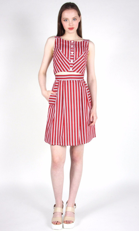 Birds of North America Iora Skirt (Red Stripe)