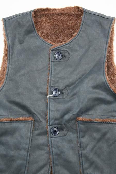 Engineered Garments Coated Twill Over Vest - Dark Navy