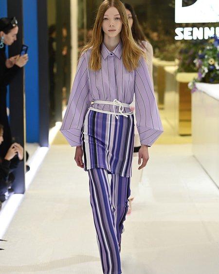 Karla Spetic Stripe Pants - multi lavender