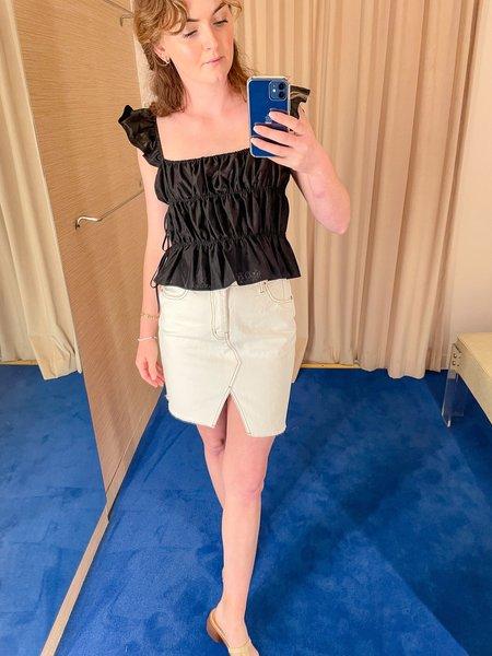 NKC Denim Mini Skirt - White