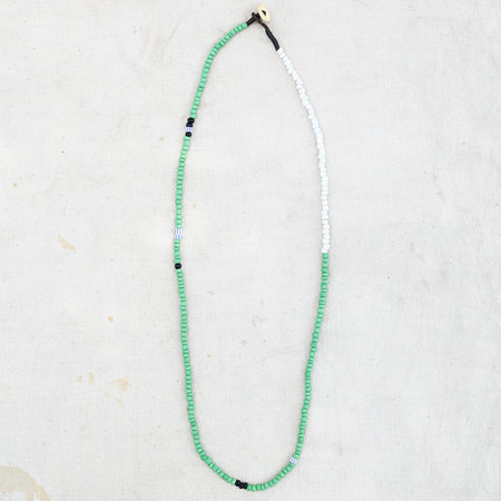 Made Solid Antique African Trade Bead Necklace