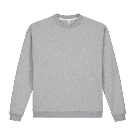Unisex gray label adult dropped shoulder sweater - grey melange