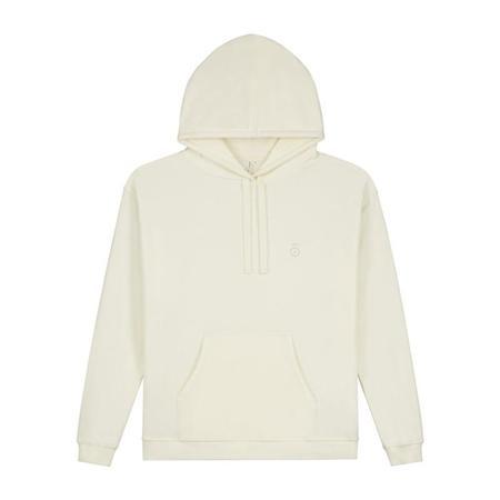 Unisex gray label adult hoodie - cream