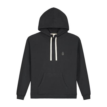 Unisex gray label adult hoodie - nearly black