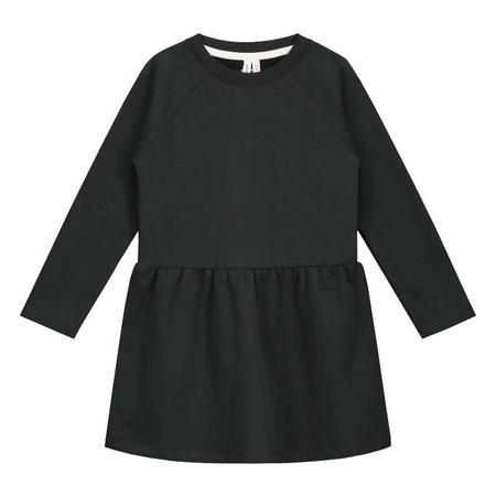 Kids gray label dress - black