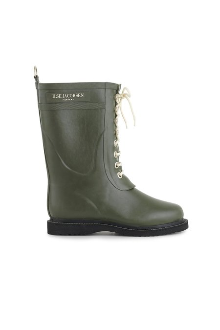 Ilse Jacobsen 3/4 Rubber Laces Boot - Army Green