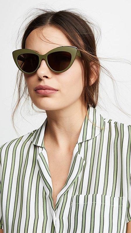Le Specs Beautiful Stranger eyewear - Matte Khaki/Brown