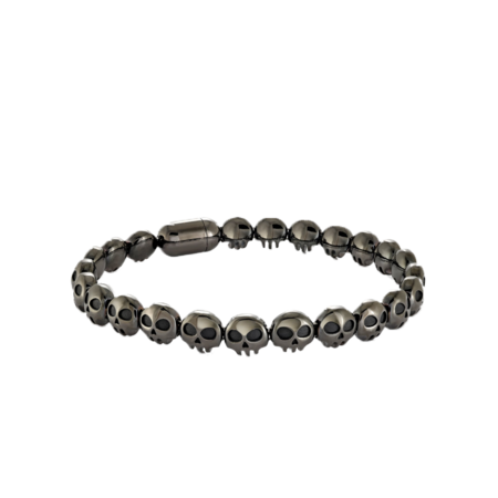Italgem Feye Skull Heads Magnetic-Clasp BB-239 Bracelet - Stainless Stee