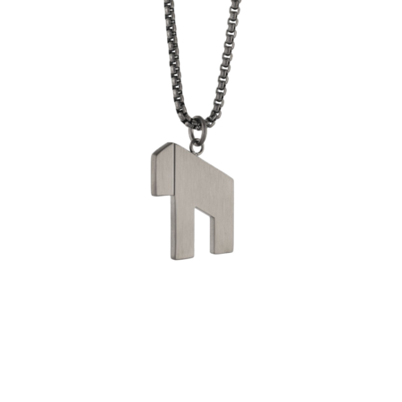 Italgem Modern Hai Gunmetal SP213 Pendant Necklace - Stainless Steel