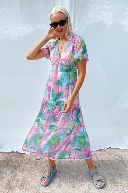 NEVER FULLY DRESSED Miami Midi Dress - Multi