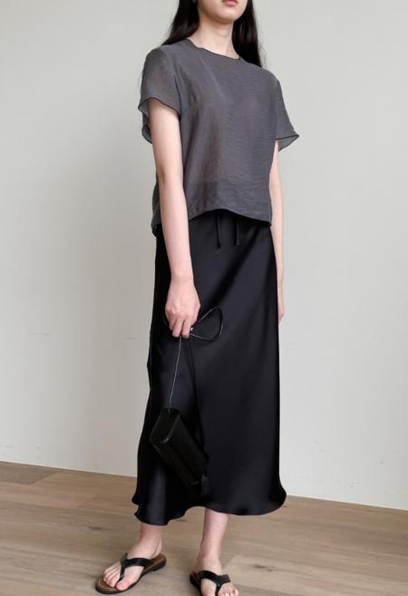 NKC Silk Tie Front Skirt