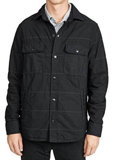Save Khaki Quilted CPO Shirt Jacket - Slate