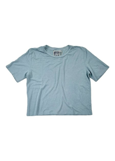 Jungmaven Cropped Silverlake Tee - Ether Blue