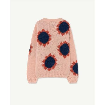 kids the animals observatory bull sweater - soft pink logo flowers