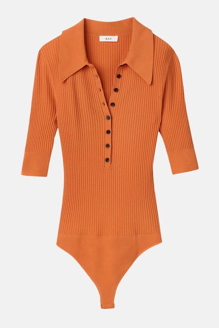 A.L.C. Women's Dia Bodysuit - Tomato Cream