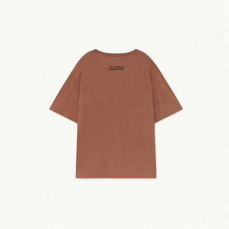 Kids The Animals Observatory Rooster Oversize T-Shirt - Brown Olympia