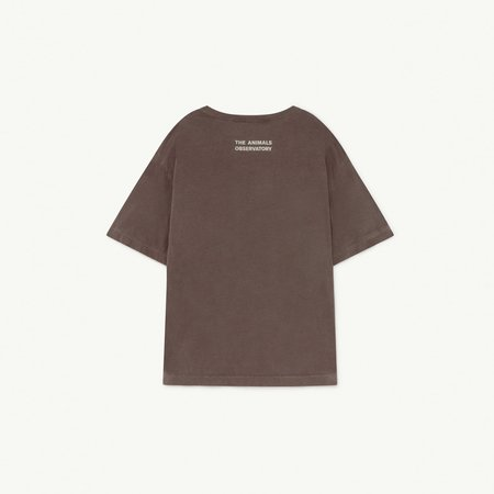 Kids The Animals Observatory Rooster Oversize T-Shirt - Deep Brown Artemis