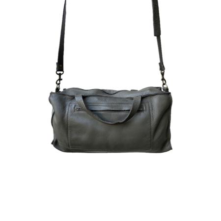 Stitch and Tickle Large  Boxy Shoulder Bag - Olive