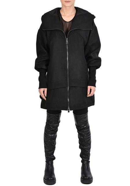 Unisex La Haine Asymmetric Oversized Hooded Safay Bubble Coat
