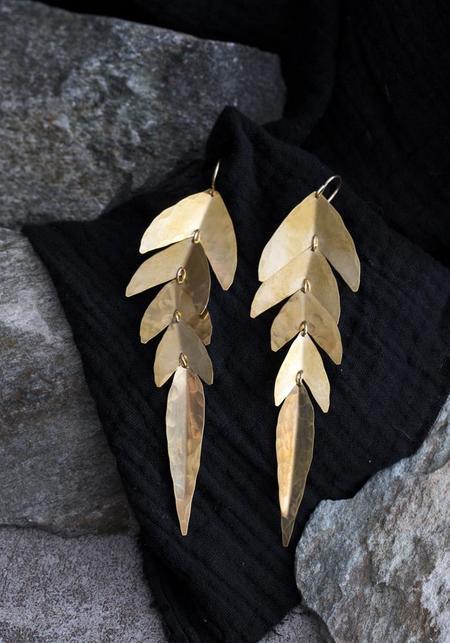 Carolyn Keys Swish Earrings - Brass
