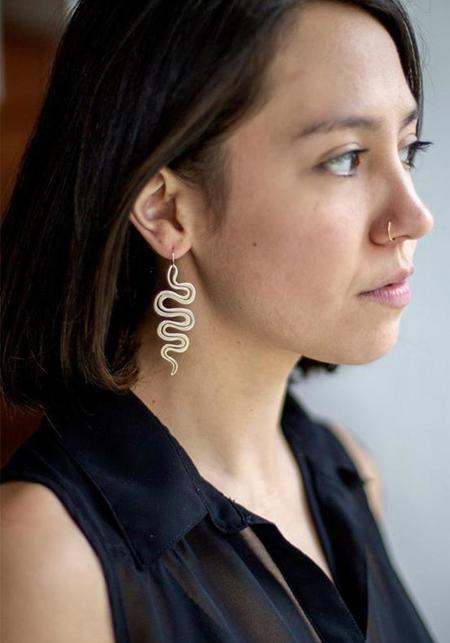 Carolyn Keys Boa Earring - Sterling Silver