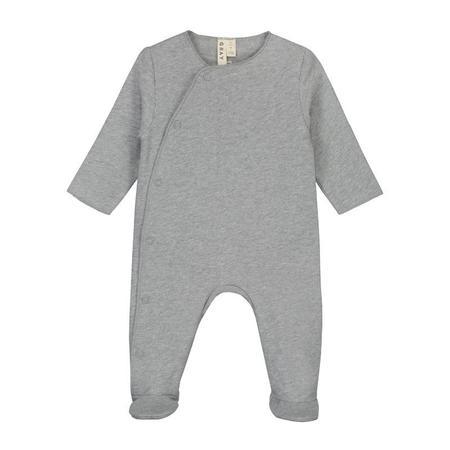 gray label newborn suit - grey melange