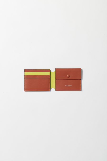 Unisex Audette Wallet - Camel/Anis