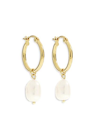 AOE Augusta Hoop Earring - Gold/Pearl
