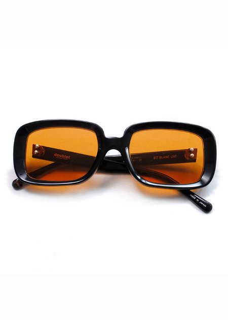 Doublet Square Flame Sunglasses - Black/Orange
