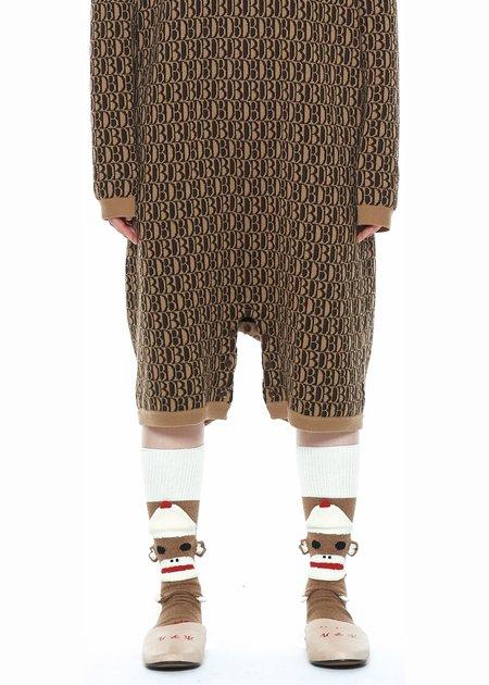 Doublet Sockmonkey Socks - Brown