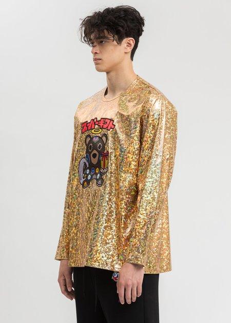 Doublet Character Applique Foil Pullover - Gold