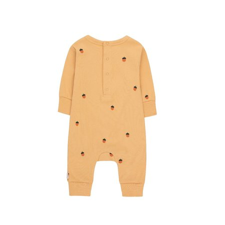 kids tinycottons acorns one piece - toffee/true brown