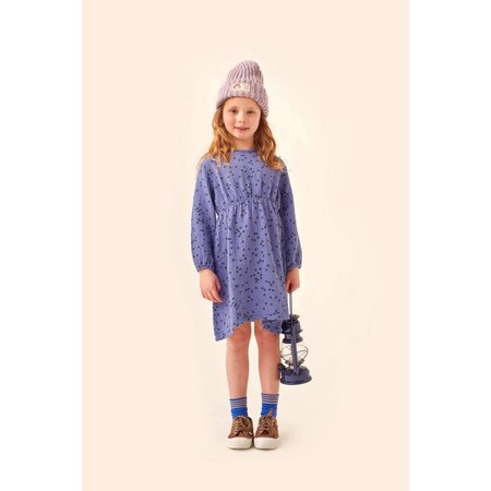 kids tinycottons daisies flowers dress - soft blue/ink blue
