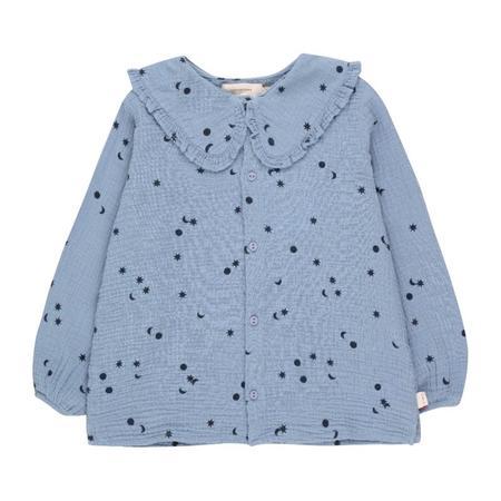 kids tinycottons sky shirt - milky sky/deep blue