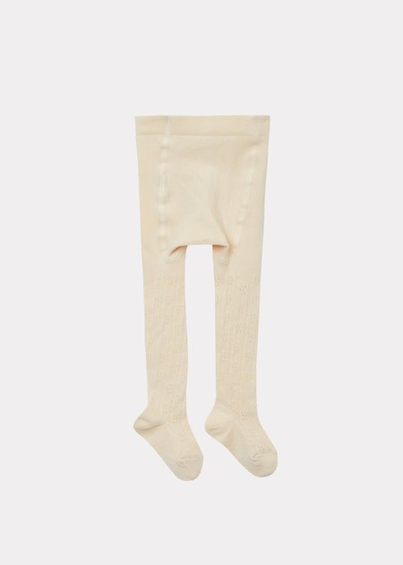 Kids Caramel Baby Pointelle Tights - Ivoire