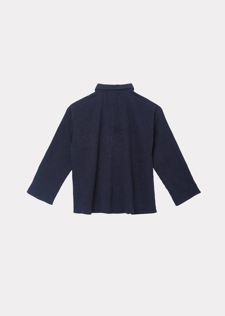 kids Caramel Eos Shirt - Navy Stripe