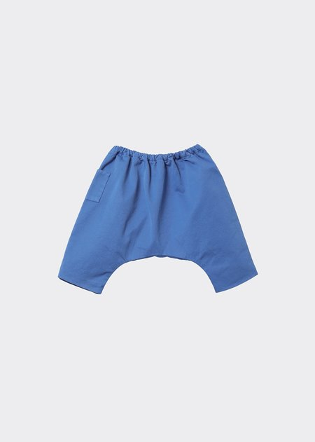 kids Caramel Igem Baby Trousers - Pacific Blue Twill