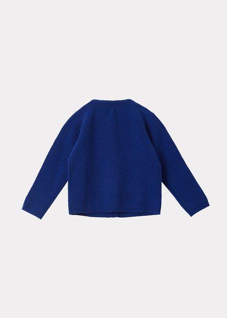 kids Caramel Lyon Baby Cardigan - Azure Blue