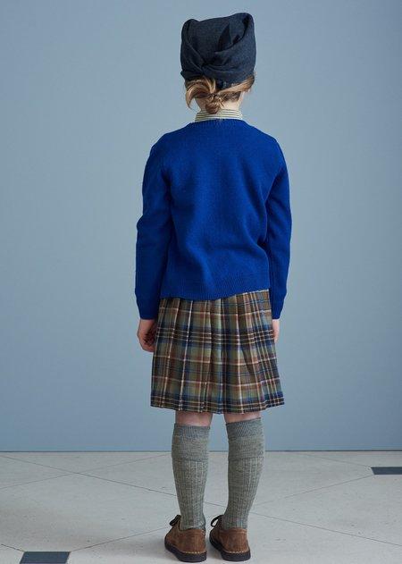 kids Caramel  Lyon Cardigan - Azure Blue
