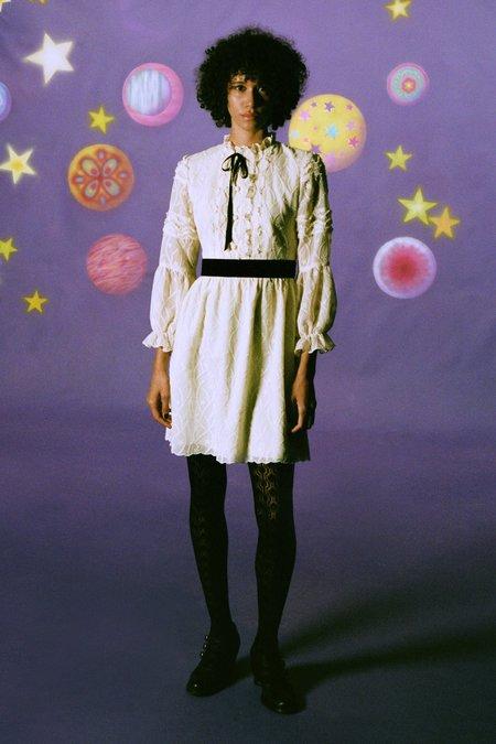 Anna Sui Botanical Lace Dress - IVORY